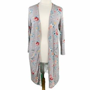 Torrid Super Soft Knits Floral Long Line Cardigan